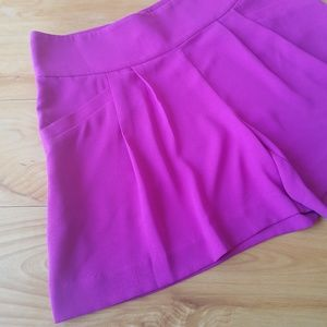 Ann Taylor LOFT Fuschia High Waisted Dress Short